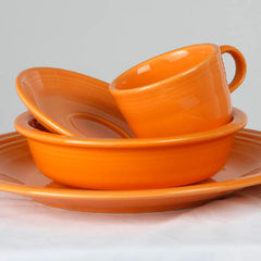 TANGERINE cardstock color is similar to the color of this plate set