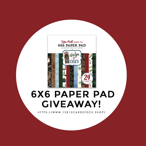 12x12 Cardstock Shop Paper Pad Giveaway. Offer ends 12/10/19.