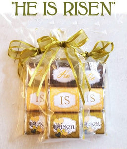 He Is Risen wrapped candy bars for Easter