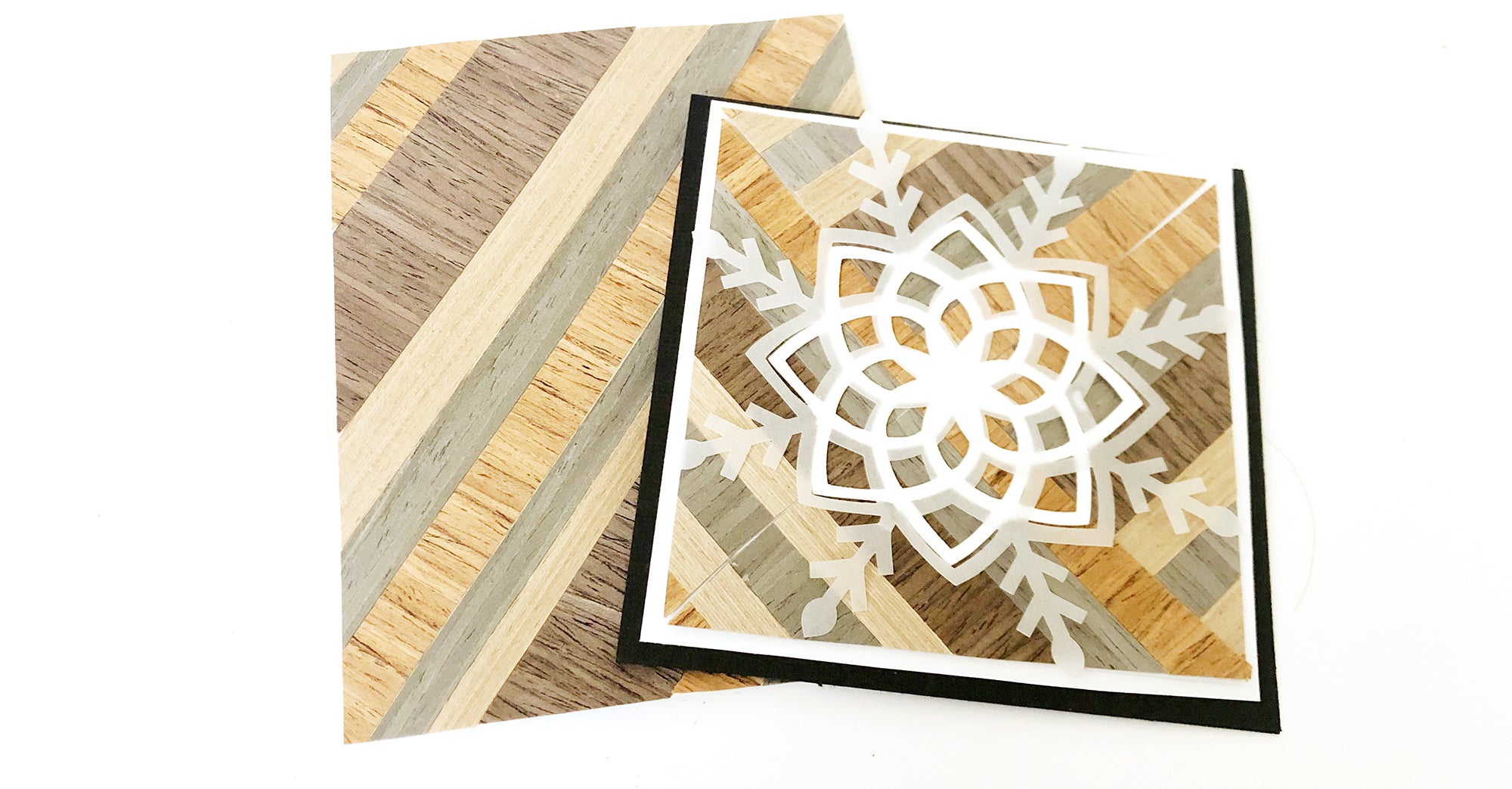 how to make inlaid wood cards