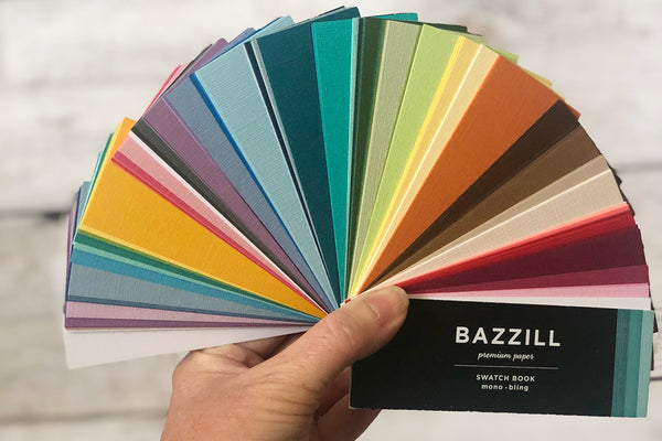 bazzill cardstock swatch book