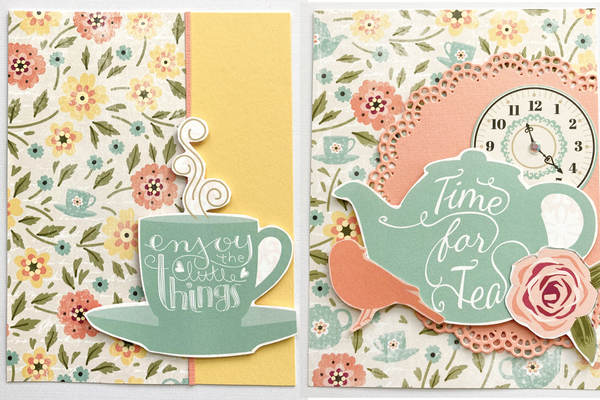handmade cards with bo bunny early bird collection