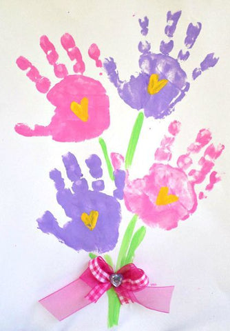 Mother's Day hand print bouquet card