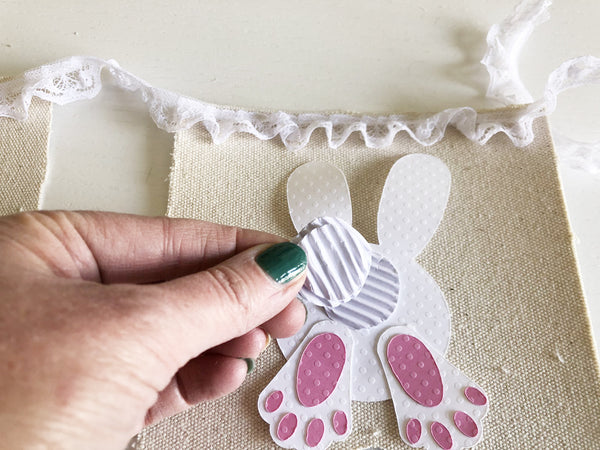 adding a bunny tail to a bunny banner