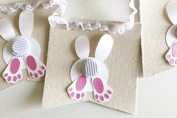 Easter bunny canvas banner