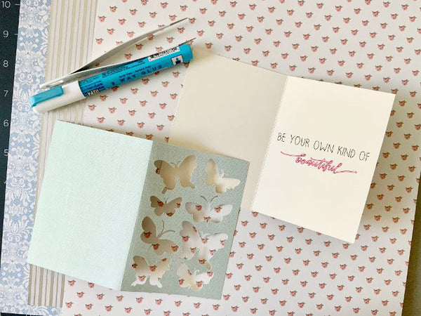 butterfly patchwork card making supplies