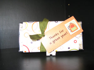 Candy Bar treats wrapped in pattern paper