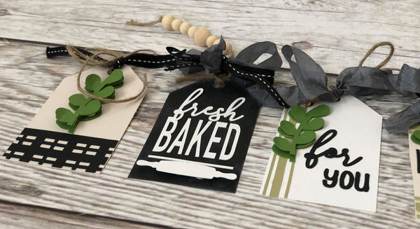 black and white farmhouse style paper tags