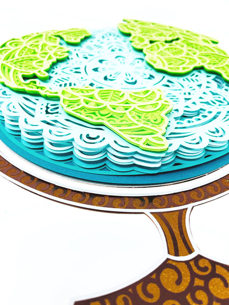 how to make a mandala cardstock project