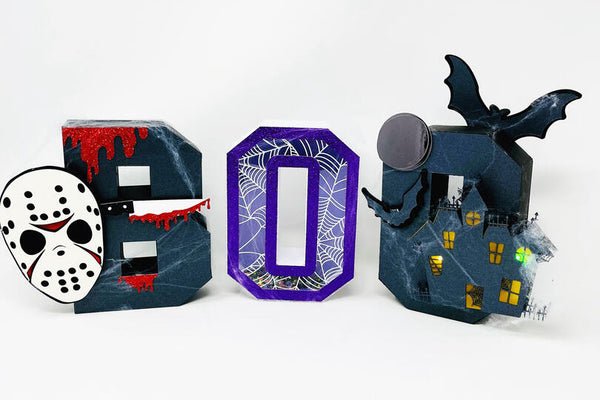 halloween dimensional paper letters