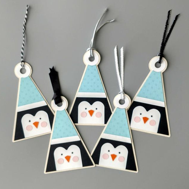 Penguin gift tags for Christmas