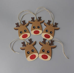 Rudolph the red nosed Reindeer gift tags