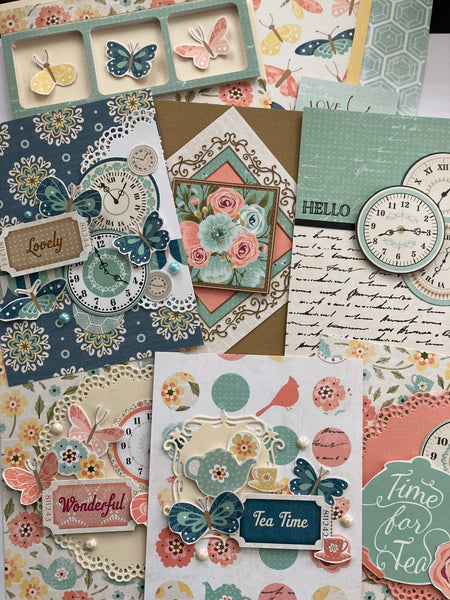 handmade cards made with Bo Bunny patterned paper collection