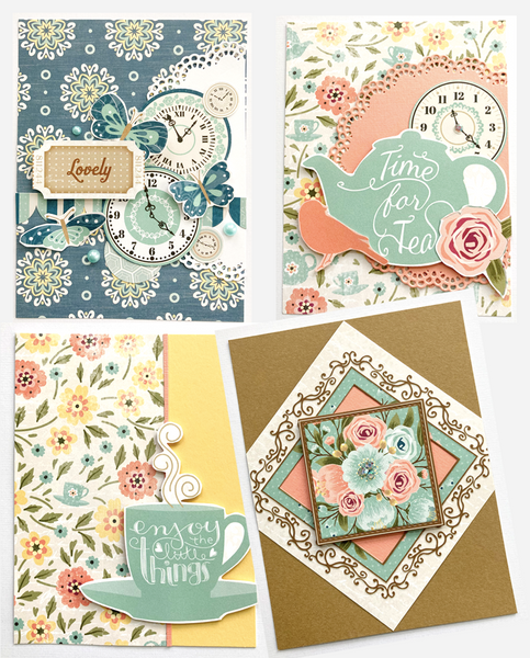 handmade cards using bo bunny collection kit