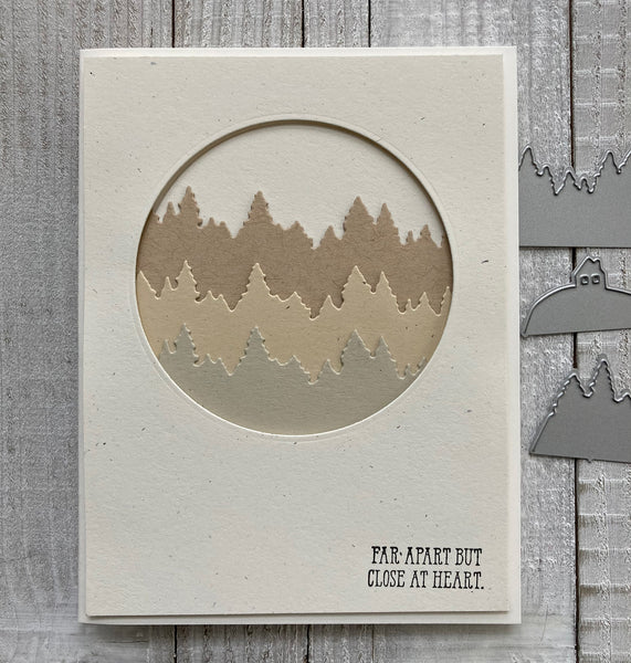 handmade card with recycled cardstock