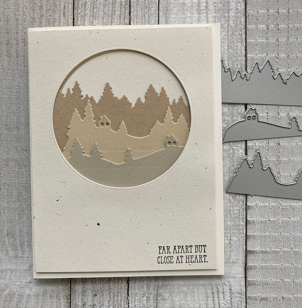 handmade card made with recycled cardstock