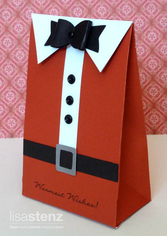Santa Clause bag made with American Crafts  12x12 80# Rouge cardstock