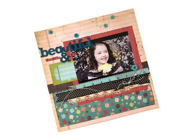 scrapbook page of cute little girl