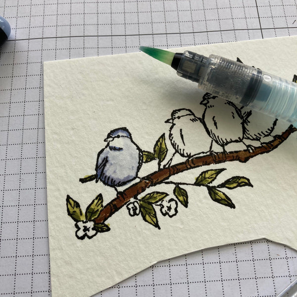 faux watercoloring with brush pens