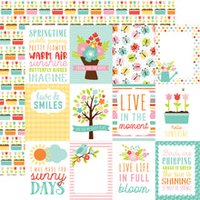 Load image into Gallery viewer, Hello Spring Journaling Cards - 12x12 double-sided cardstock from Echo Park Paper Co.