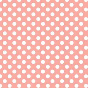 White dots on peach background - 12x12 cardstock from Echo Park Paper Co.
