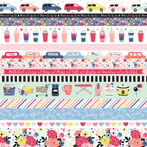 Colorful Border Strips from I Am Mom Collection - Echo Park Paper Co.