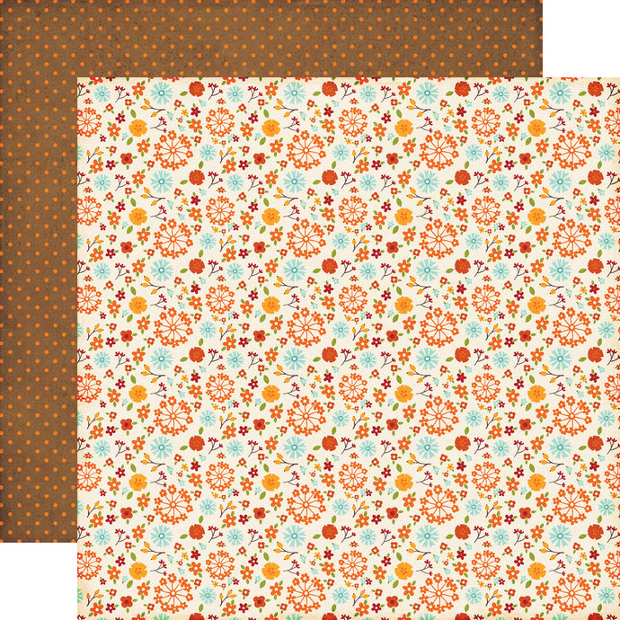 SMALL FALL FLORAL 12x12 double-sided cardstock from Echo Park Paper Co.