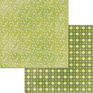 12x12 double-sided patterned paper with petite floral design on one side and damask-like pattern on reverse - BoBunny