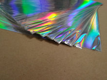 Load image into Gallery viewer, RAINBOW HOLOGRAPHIC Foil Board - 12x12 Bazzill Specialty Cardstock - 2nd