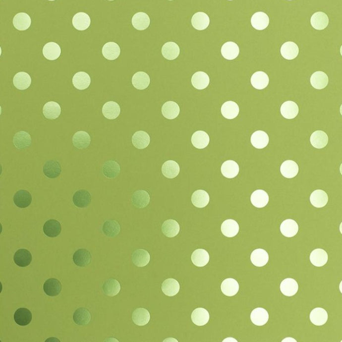 EASTER GRASS FOIL DOT - 12x12 tone-on-tone specialty cardstock from Bazzill Trends