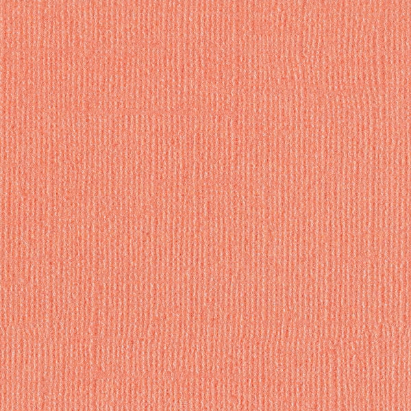 PERKY coral pink Bazzill Bling 12x12 cardstock with shimmery mica coating