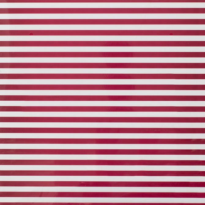 12x12 clear acetate sheet with pomegranate red stripes by Bazzill Specialty Paper