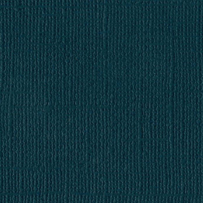 Bazzill Mysterious Teal - dark teal cardstock - 12x12 inch - 80 lb - textured scrapbook paper