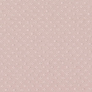 SUNSET ROSE 12x12 Dotted Swiss cardstock - Bazzill Basics - soft pink in color