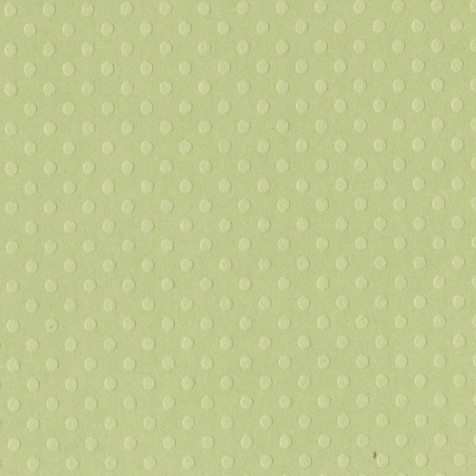 CELTIC GREEN Dotted Swiss cardstock - 12x12 inch - embossed, geometric design by Bazzill Basics Paper
