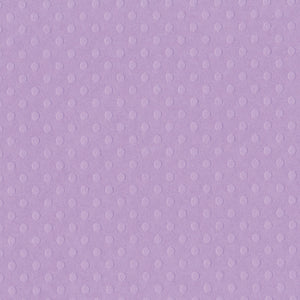 BERRY PRETTY light  purple Dotted Swiss cardstock - 12x12 - embossed dot geometric pattern - Bazzill Basics
