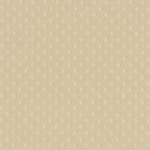 SANDBOX buff colored Dotted Swiss - 12x12 cardstock with embossed dot pattern - Bazzill Basics