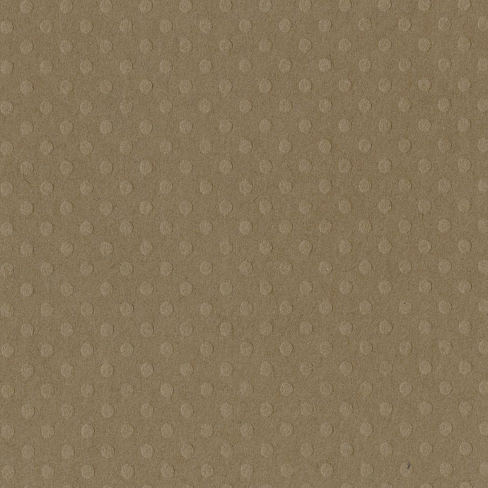 MUD PUDDLE taupe Dotted Swiss 12x12 cardstock with embossed geometric pattern - Bazzill Basics Paper