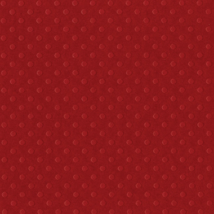 PHOENIX dark red Dotted Swiss 12x12 cardstock - geometric embossed patter - Bazzill Premium Paper