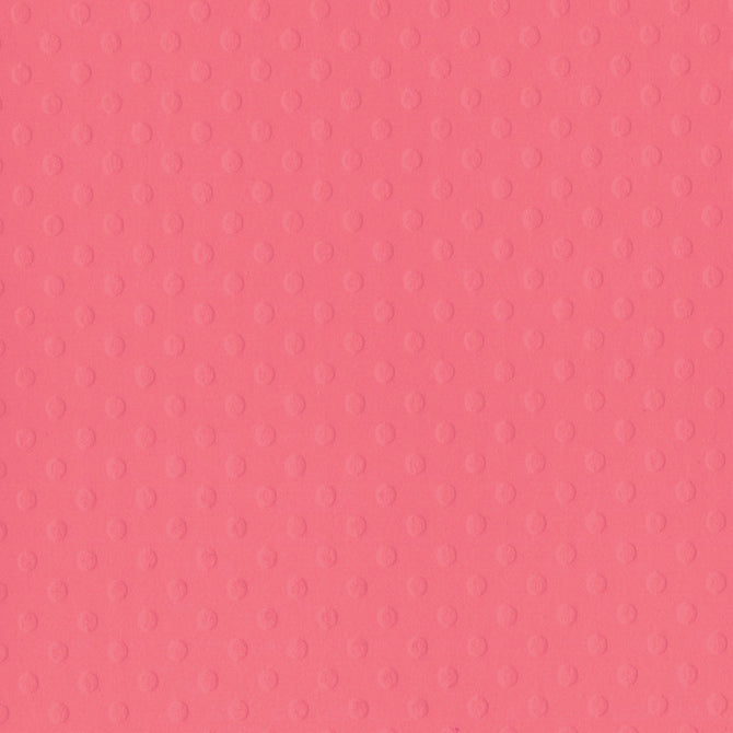 CORAL REEF 12x12 Dotted Swiss cardstock from Bazzill Basics Paper - coral pink in color