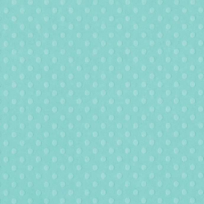 Baby blue JULEP Dotted Swiss cardstock - 12x12 - geometric embossed dots - Bazzill Paper