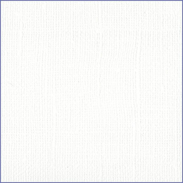 Bazzill White cardstock - 12x12 inch - 80 lb - textured scrapbook paper
