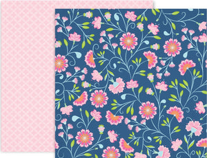 HORIZON PAPER 2 - 12x12 Double-Sided Patterned Paper - Pink Paislee