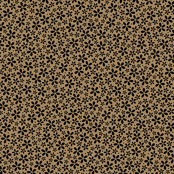 12x12 patterned cardstock with petite, black flowers on Kraft background - core'dinations