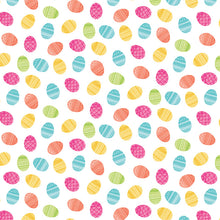 Load image into Gallery viewer, 12x12 patterned cardstock with colorful Easter eggs on white background - American Crafts