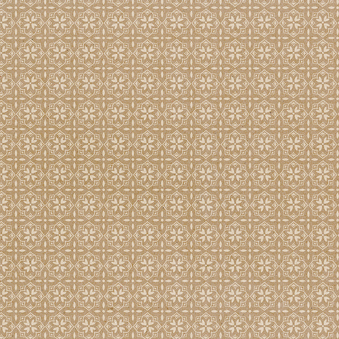 Krafted - 12x12 patterned paper with white damask pattern on Kraft background - Jen Hadfield