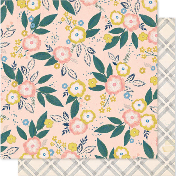 BLOSSOM - 12x12 floral, double-sided patterned cardstock - Maggie Holmes - Crate Paper