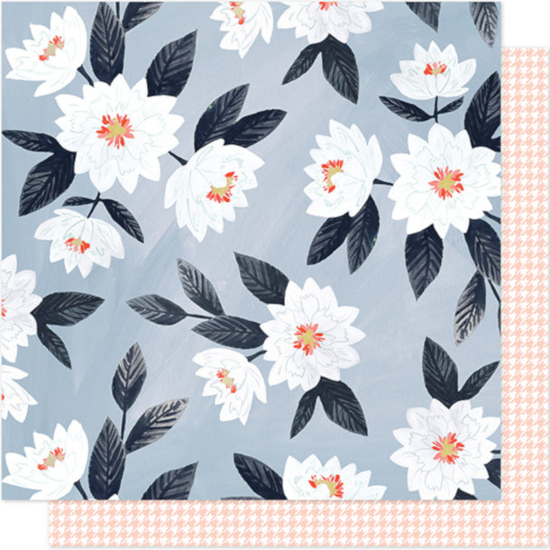 EVENING POSIES - 12x12 double-sided patterned cardstock - 1CANOE2 - floral design