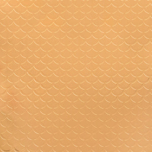 12x12 sheet of copper foil embossed with scale design - American Crafts Specialty Paper