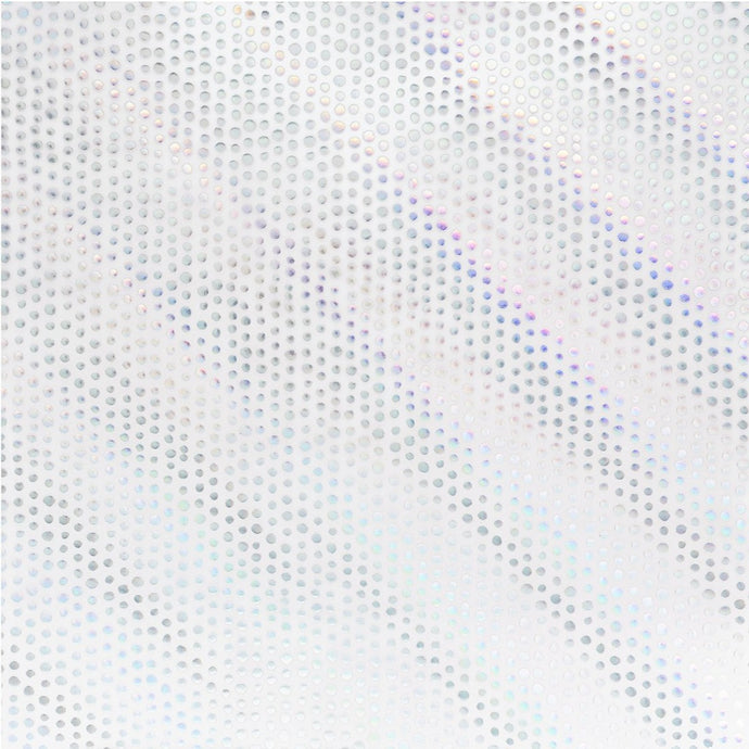 Holographic foil dots on 12x12 clear, white vellum paper by American Crafts